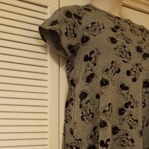 Gray LuLaRoe DISNEY Minnie Mouse Dress Size S